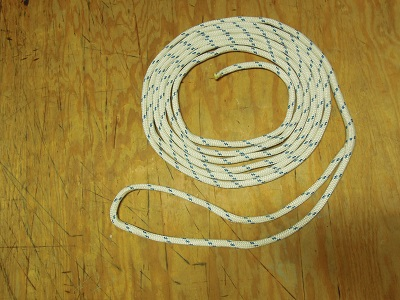 6m blue braided cord 1.5mm